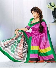 Art Silk Saree with Blouse | I found an amazing deal at fashionandyou.com and I bet you'll love it too. Check it out!