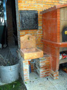 Lavello da giardino su misura, old stone. Località: Brisighella (Ravenna).