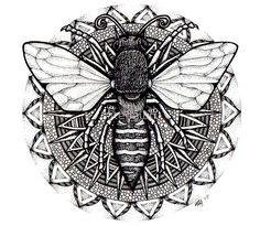 Image result for bee mandala