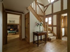 beautiful oak work #entrance #staircase #oak
