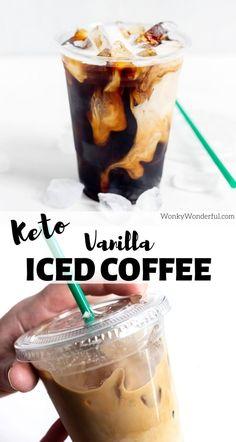 Healthy Iced Coffee, Vanilla Iced Coffee, Homemade Iced Coffee, Iced Coffee At Home, Iced Coffee Drinks, Iced Coffee Recipes, Cold Brew Iced Coffee, Keto Coffee Recipe, Cold Brew Coffee Recipe Starbucks