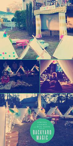 """Backyard Sleepover with movie screening party- Total Summer Party """"A Night Under the Stars"""""""
