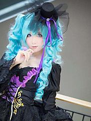 Vocaloid MIKU Blue Curly Pigtails Cosplay Wig – USD $ 41.99