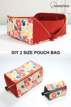 Diy Sewing Projects, Sewing Hacks, Sewing Tutorials, Sewing Crafts, Sewing Patterns, Tutorial Sewing, Purse Patterns, Diy Pouch Tutorial, Wallet Sewing Pattern