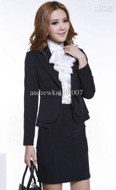 Women formal suit Lady office work suits Fashion interview Apparel , Women's Suits
