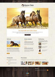 Joomla #template // Regular price: $75 // Unique price: $4500 // Sources available: .PSD, .PHP #Joomla #Responsive #Animals #Pets #Horse #Club