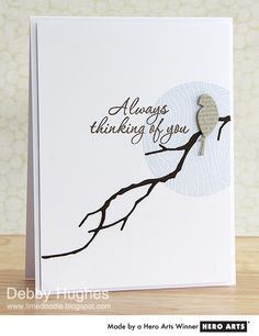 A perfect clean and simple card, using masking, dies, and a heartfelt sentiment.