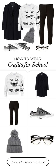 """what to wear----school"" by vivicarrie on Polyvore featuring MSGM, Joseph and Converse Outfits With Converse, Cute Outfits, Only Fashion, Womens Fashion, Student Fashion, Nike Roshe Run, Eclectic Style, Msgm, Mix Match"