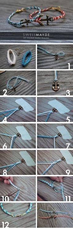 DIY anklet-really cute #diyankletssummer #diyankletscrafts