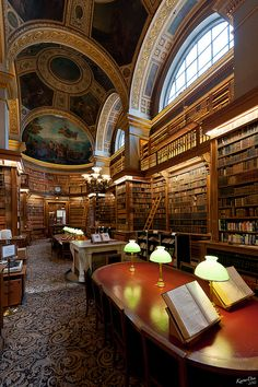 """Library, Paris, France """"The real reading begins when we no longer read only for entertainment and escape, but to find. """"(John Guéhenno (1890-1978))"""
