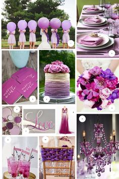 wedding colors 2014 | ... 2014, wedding ideas, radiant orchid wedding color moodboard, wedding