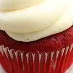 Paula Deen's Red Velvet Cupcakes with Cream Cheese Frosting - The best red velvet cupcake recipe I've ever used! These are the only red velvet cupcakes I make!