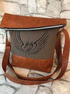 Schultertaschen - FoldOver Tasche, Phönix - ein Designerstück von Kleine-Wollbude bei DaWanda