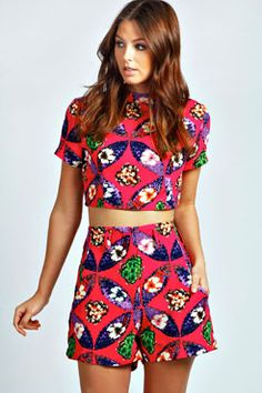 Tribal Print Shorts and Top