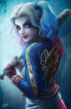 I just finished my new Harley Quinn! Harley Quinn Tattoo, Harley Quinn Drawing, Harley Quinn Cosplay, Joker And Harley Quinn, Margot Robbie Harley, Harely Quinn, Joker Art, Anime Art Girl, Disney Art