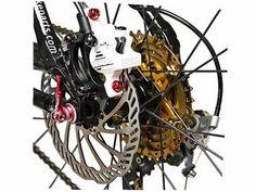 Carbon | Fahrradteile | Online Shop - Bengal Scheibenbremsen - Fahrrad Bremse HELIX 7B weiß.