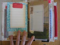 beautiful ROD journal made with upcycled old book covers :)  $55