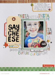 say cheese by gluestickgirl at @Studio_Calico - made using the COPPER MOUNTAIN kits