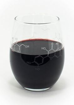 Pour-ganic Chemistry Wine Glass | 36 Gotta-Have Gifts for Holiday Season 2014 | Bustle