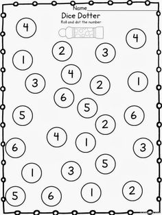 Dice Addition Worksheets: (Two included; The ULTIMATE Printable Math Pack: Kindergarten Math and First Grade Math . Numbers Kindergarten, Kindergarten Math Activities, Numbers Preschool, Preschool Curriculum, Kids Learning Activities, Preschool Lessons, Kindergarten Classroom, Kindergarten Worksheets, Teaching Math