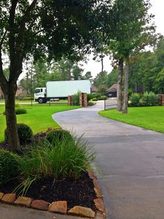 The Gallery Furniture delivery team will never park in the driveway as a courtesy to our customers. | Houston, TX| Gallery Furniture|