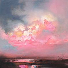 Cumulus Consonance Study 1 oil painting by Scottish landscape artist Scott Naismith ☁ Abstract Landscape, Landscape Paintings, Landscapes, Oil Paintings, Abstract Art, Art Amour, Fine Art, Painting Inspiration, Painting & Drawing