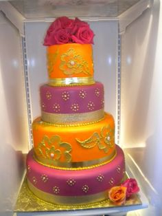 dazzling cake-This would be the best birthday cake ever! or a great cake for a bollywood type wedding.