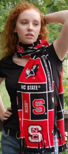 Fleece Scarf Go NCSU Wolfpack Wolf State by annnna on Etsy, $15.00