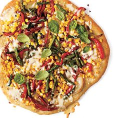 Budget Cooking: Feed 4 for $10 | Summer Veggie Pizza | CookingLight.com  Aim to make or buy a whole grain crust and remember to use only non-GMO corn.