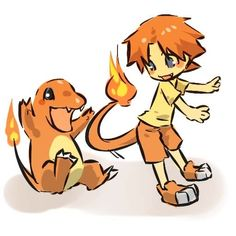 If Charmander was a kid Pokemon Nintendo Video Games Outfit shirt, pants idea/concept