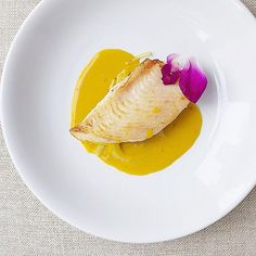 Pan seared lemon sole on braised white balsamic fennel and leek, in a champagne langoustine coconut milk saffron bisque.  #foodstarz_official #fit #foodpic #theartofplating #foodartistry #foodie #gourmet #foodartchefs #foodporn #yummy #grateplates #delicious #food #cookniche #foodphotography #gastroart #cleaneats #eat #gourmetartistry #instagood #gastronomy #finedining #paleo #bonappetite #simplisticfood #discoveringchefs #foodgasm #chefsofinstagram #chefsroll #chefstalk