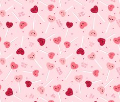 Valentine Sweethearts fabric by figandfossil on Spoonflower - custom fabric Vintage Scrapbook, Scrapbook Paper, February Wallpaper, Iphone Background Wallpaper, Kawaii Wallpaper, Fabric Squares, Fabulous Fabrics, Heart Art, Diy Toys