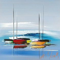 Today I'm sharing easy acrylic painting ideas for beginners to try. Simple acrylic paintings, improve your acrylic art. Sailboat Art, Sailboat Painting, Love Painting, Sailboats, Watercolor Paintings For Beginners, Painting Techniques, Watercolor Art, Abstract Landscape, Abstract Art