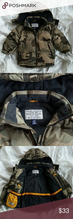 Boys winter puffer coat Super warm and stylish Gap jacket, high quality! Removable hood, longer back to protect from cold breeze!! Has name and phone number on the inside pocket, can be covered with marker. Great, great used condition!! Bundle for savings. No zipper issues, they all work beautifully!! GAP Jackets & Coats Puffers