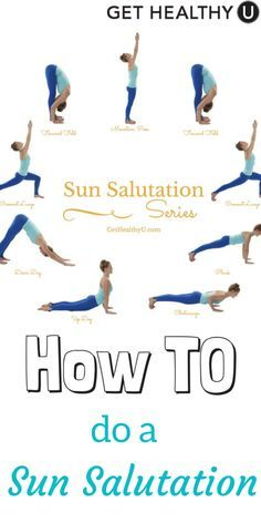 Sun salutations have amazing fitness benefits to detoxify, strengthen, and stretch nearly every muscle in your body. Let's get sweaty, burn calories, and have some fun doing the sun!  Here is all you need to know to get started! #Yoga