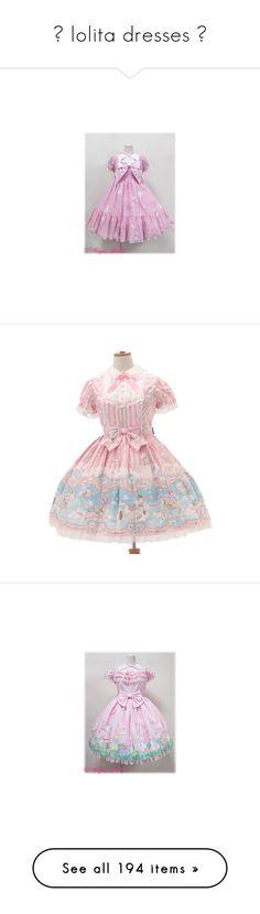 """☆ lolita dresses ☆"" by galaktikons ❤ liked on Polyvore featuring gothiclolita, lolita, SweetLolita, classiclolita, dresses, angelic pretty, op, ap, pink dress and lolita op"