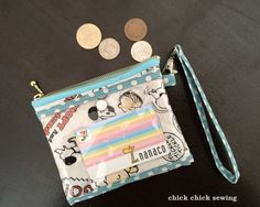 chick chick sewing: Snoopy handmade coin purse/IC card holder made for my daughter ♪ 娘のパスケース兼お財布をハンドメイド ♪