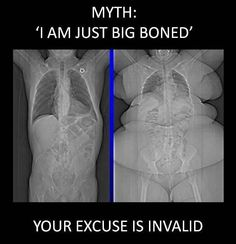 """The old """"I'm big boned"""" excuse.  When you ready to stop making excuses and get started, click the picture."""
