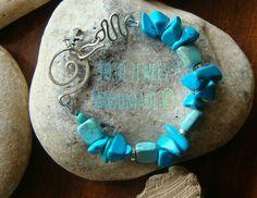 Κιν.6973386152  #foto jewels Turquoise Bracelet, Jewels, Bracelets, Handmade, Hand Made, Jewerly, Bracelet, Gemstones, Fine Jewelry