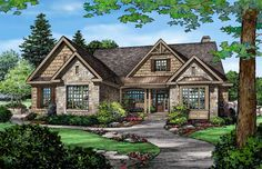 Bosworth House Plan, 2291 sq ft, h/h closets, open family room, screened porch, deck.  LIKE!