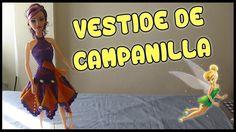 Vestido de Campanilla a crochet para Muñeca