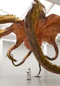 Sea Monster Sculpture By Huang Yong Ping Installed At Qatar Museums Gallery