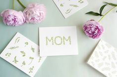 In honor of Mother's Day, we're giving away some beautiful green cards from Moontree Letterpress— just in time for the holiday. To enter the contest, sign up for the Garden Collage newsletter and enter the giveaway, below.