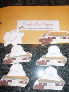 """Pumpkin Pie Rhymes"" and tons of other Thanksgiving activities"