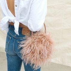 1aee1a0fa3 Fur Bag Women Luxury Designer Ostrich Feather Evening Party Pink/Green  Handbag #fashion #