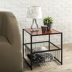 The Modern Studio Collection is an ideal combination of function and style. The 20 Inch Square Side Table can function as a night stand, end or side table, coffee table, or to hold various items in any room of the home. With the metal basket, storage space is maximized. The sturdy, black square... more details available at https://furniture.bestselleroutlets.com/living-room-furniture/tables/end-tables-tables/product-review-for-zinus-modern-studio-collection-20-inch-deluxe-sid