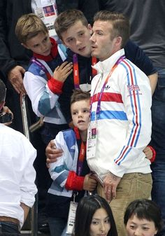 David, Brooklyn, Romeo, and Cruz Beckham | 8.11.2012