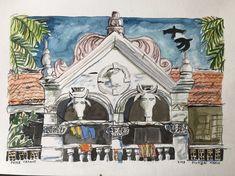 Old house Mumbai India 2018 Pieter Cronje Mumbai, Faces, India, House, Painting, Art, Art Background, Goa India, Bombay Cat