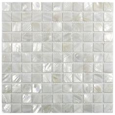 Ivy Hill Tile Lokahi x Glass Pearl Shell Mosaic Tile in White Stone Mosaic Tile, Mosaic Wall Tiles, Mosaic Glass, Pebble Tiles, Glass Tiles, Rustic Bathroom Vanities, Small Bathroom, Country Bathrooms, Master Bathroom