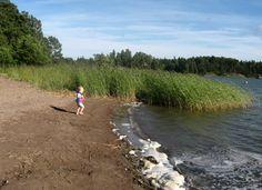 The beach of Suvisaaristo (Espoo, Finland).